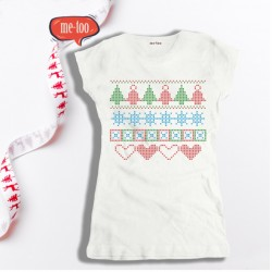 Koszulka damska Christmas pattern