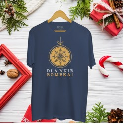 Świąteczna koszulka męska z nadrukiem Dla mnie bombka!