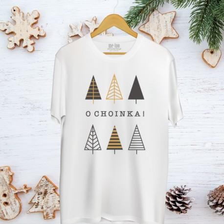 Świąteczna koszulka męska z nadrukiem O choinka!