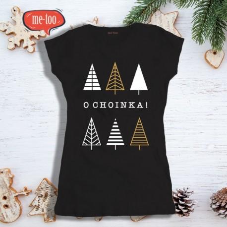 Świąteczna koszulka damska z nadrukiem O choinka!