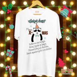 Koszulka Świąteczne życzenia - panda