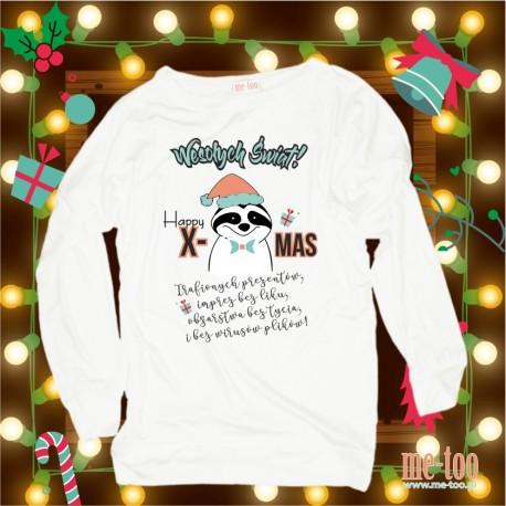 Bluza damska Świąteczne życzenia - szop