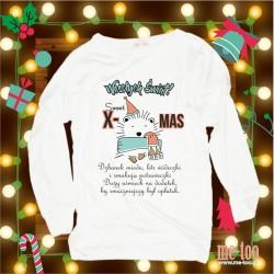 Bluza damska Świąteczne życzenia - jeżyk
