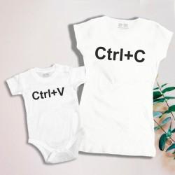 Komplet: koszulka damska i dziecięca lub body, Ctrl + C / Ctrl + V