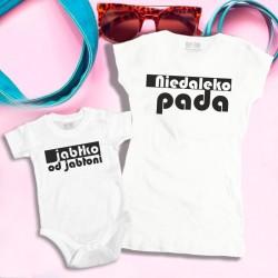 Komplet: koszulka damska i dziecięca Niedaleko Pada Jabłko od Jabłoni