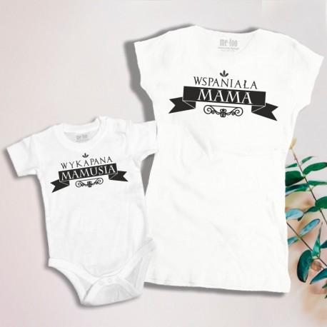 Komplet: koszulka damska i dziecięca Wspaniała Mama