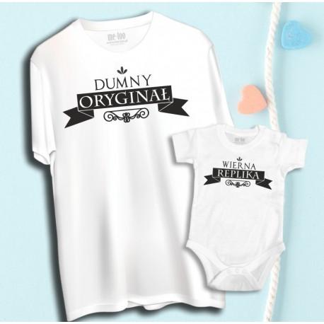 Komplet: koszulka męska i dziecięca Dumny Oryginał, WIerna Replika