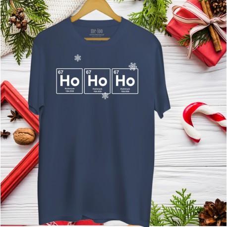 Świąteczna koszulka dla chemika: HoHoHo - Holmium
