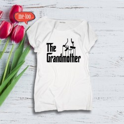 Luźna damska bluzka z nadrukiem The Grandmother