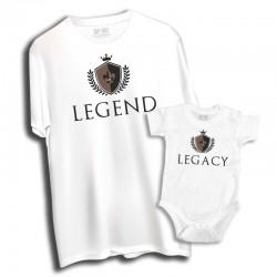 Komplet: koszulka męska i dziecięca Legend - Legacy