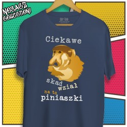 Męska koszulka z Nosaczem: Ciekawe skąd wziął na to piniąszki