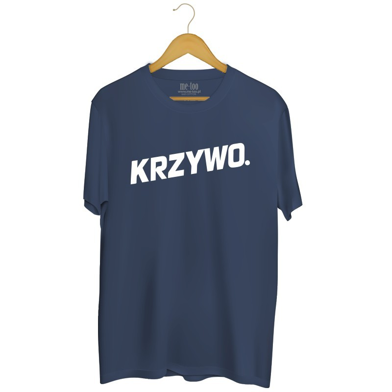 cdbc447df5dc93 Koszulka z nadrukiem Krzywo - me-too.pl