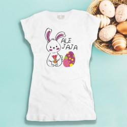 Damska koszulka Wielkanocna z nadrukiem Ale jaja
