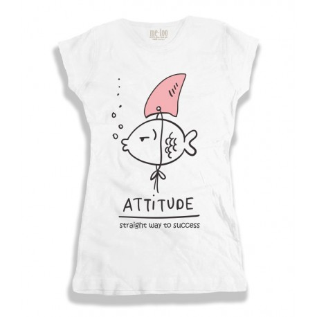 Damska koszulka z nadrukiem Attitude