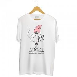 Męska koszulka z nadrukiem Attitude