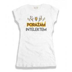 Śmieszna koszulka damska: Porażam intelektem
