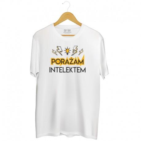 Koszulka męska z nadrukiem: Porażam intelektem