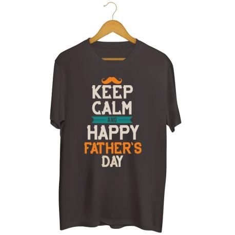 Męska koszulka z nadrukiem Keep Calm and happy Father's Day