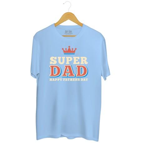Męska koszulka z nadrukiem Super Dad - happy Father's Day