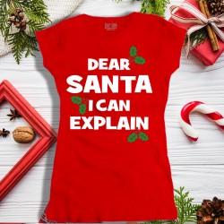 Koszulka damska Dear Santa I Can Explain