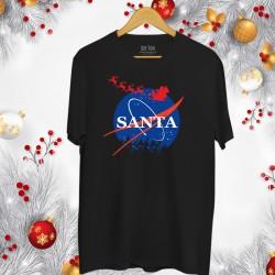 Świąteczna koszulka męska z nadrukiem Santa