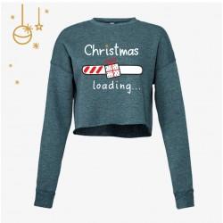 Świąteczna krótka bluza damska - Christmas loading