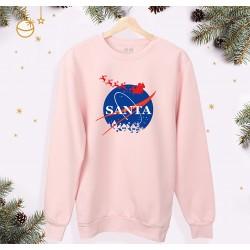 Świąteczna bluza unisex - z nadrukiem Santa | rozmiary dorosłe i dziecięce