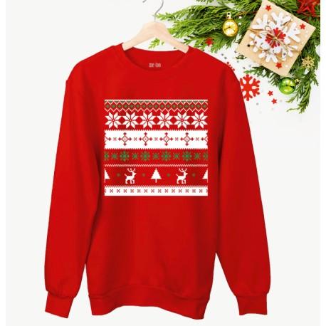 Świąteczna bluza unisex z nadrukiem - Christmas pattern