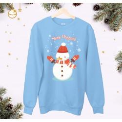 Świąteczna bluza unisex z Bałwankiem  rozmiary dziecięce i dorosłe