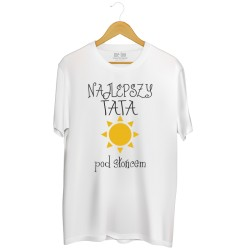 Męska koszulka z nadrukiem Najlepszy tata pod słońcem