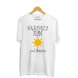 Męska koszulka z nadrukiem Najlepszy syn pod słońcem