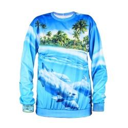 Bluza 3D print Dolphins unisex