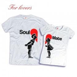 Komplet koszulek dla zakochanych: Soul - Mate