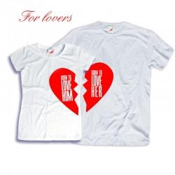 Komplet koszulek dla zakochanych: Born to love Him - Her