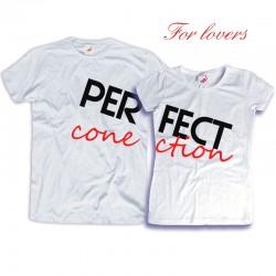 Komplet koszulek dla zakochanych: Perfect conection