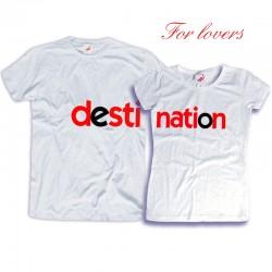 Komplet koszulek dla zakochanych: Destination