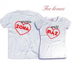 Komplet koszulek dla zakochanych: Moja żona / Mój mąż