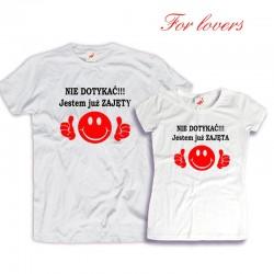 Komplet koszulek dla zakochanych: Nie dotykać jestem już zajęta/-y