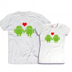 Komplet koszulek dla zakochanych: Love and androids