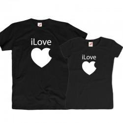 Komplet koszulek dla zakochanych: iLove