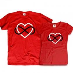Komplet koszulek dla zakochanych: Forever love