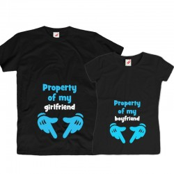 Komplet koszulek dla zakochanych: Property of my girlfriend / boyfriend