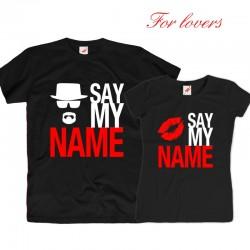 Komplet koszulek dla zakochanych: Say my name