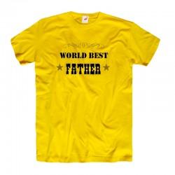 Koszulka męska z nadrukiem World best Father