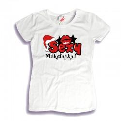 Damska koszulka z nadrukiem Sexy Mikołajka