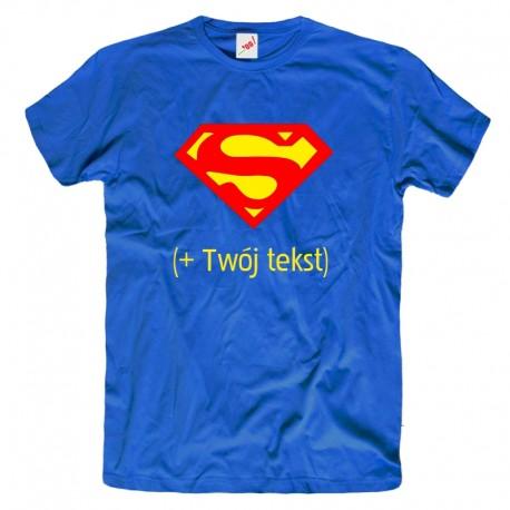 Koszulka męska Superman + Twój tekst