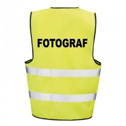 Kamizelka ostrzegawcza z nadrukiem Fotograf