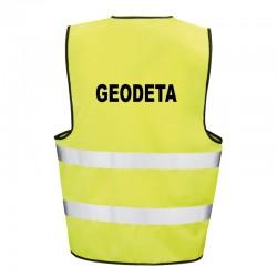 Kamizelka ostrzegawcza z nadrukiem Geodeta