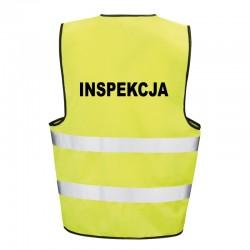 Kamizelka ostrzegawcza z nadrukiem Inspekcja