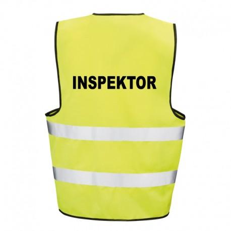 Kamizelka ostrzegawcza z nadrukiem Inspektor